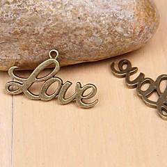 Eruner®40*22MM Alloy Love Charms Jewelry DIY(5pcs)