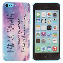 Hakuna Matata Mönster plast Hard Case för iPhone 5C