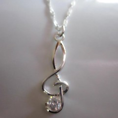 Women's Fashion Lovely Silver Plated Copper Silver Plated Crystal Pendant Necklace