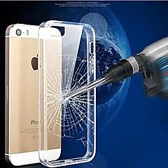 marco del tpu cristal caso cubierta de la PC transparente resistente a los arañazos para el iphone 5 / 5s