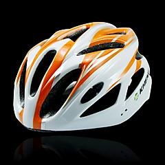 kheng 18 tuuletusaukkojen pc + eps oranssi MTB maantiepyörän valettu yhtenäiseksi pyöräilykypärän (54-62cm)