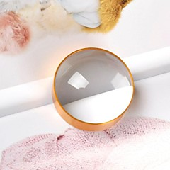 Golden 5X 75mm Metal Hand Close-up Magnifier for Pressing Paper and Document