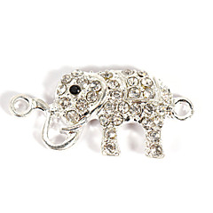 Alloy Rhinestone Elephant DIY Charms Pendants for Bracelet & Necklace
