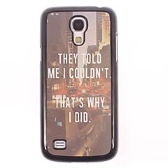 warum ich tat, Aluminium Hard Case für Samsung Galaxy i9500 s4