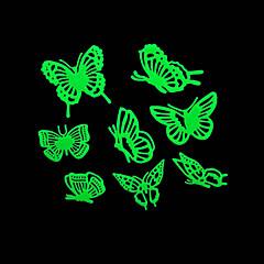 romantische huis absorptiometrische nachtverlichting stickers-vlinder