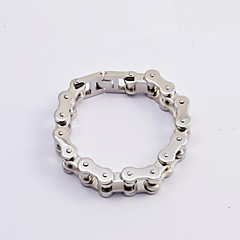 Fashion Men's Silver 316L Stainless Steel Thick Motorcycle Chain Bracelets Jewelry