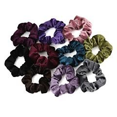 Elastic Velvet Hair Ties(5Pcs/Package)(Mixed Colors)