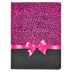 Rose Leopard Bow Mønster PU skinn Full Body sak med stativ for iPad 2/3/4