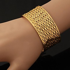 U7® Big 18K Chunky Gold Plated Cuff Bracelet Bangles For Men or Women Bracelets  Christmas Gifts