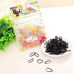 Fashion Multicolor Rubber Hair Ties Elastic hair bands For Kids(about 60pcs in A Package)