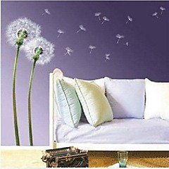 Dandelion Design Fashion Plastic Wall Stickers (1pcs)