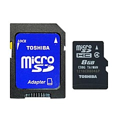 opprinnelige Toshiba 8gb klasse 4 MicroSDHC-minnekort med SD adapter