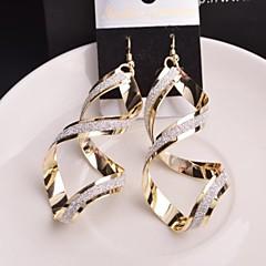 Earring Drop Earrings Jewelry Women Wedding / Party / Daily / Casual Alloy Gold / Black / Silver