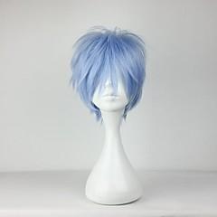 코스프레 가발 코스프레 Kuroko Tetsuya 블루 쇼트 에니메이션 코스프레 가발 30 CM 열 저항 섬유 남성