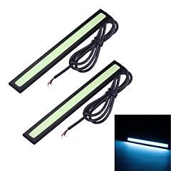 Merdia 6W 8000K 1500LM 14SMD LED COB Blue Ice Car Light luz de tira / Daytime Running Light (14CM / 12V)