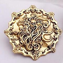 Euroopan laulu Tulen ja jään 4cm unisex metalliseos rintakoruja (pronssi, kulta, musta) (1 kpl)