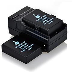 DSTE 7.4v 1600mAh en-EL14 * 2 bateria + dc111 * 1 carregador para Nikon D5100 câmera p7800 d3100