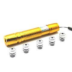 LT-05 Zoom Light Match Green Laser Pointer(1MW,532nm,1x18650,Golden)