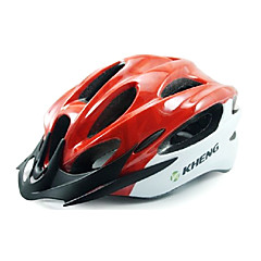Kheng 22 Vents PC + EPS Red MTB Integrally-molded Cycling Helmet(54-62cm)