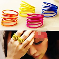 Characteristics of Personality Spiral Fluorescent Color Ring