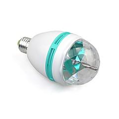 e27 couleur 3w RVB a mené la phase cristal la lumière de projecteur ampoule à effet de boule de disco magique dace party dj (110-240v)
