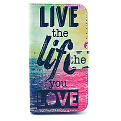 Live Life Sea Design PU Leather Full Body Case with Stand for Samsung Galaxy S4 I9500