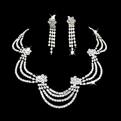 Jewelry Set Women's Anniversary / Wedding / Engagement / Birthday / Gift / Party / Special Occasion Jewelry Sets Alloy Rhinestone Silver