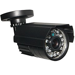 Cctv hr 24ir 900tvl cmos ir-cut jour / nuit imperméable à l'eau caméra de sécurité à domicile avec support