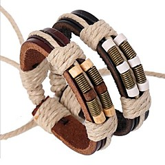 The Latest Bronze Springs Wooden Beads Leather Bracelet