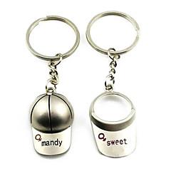 (Pár) Hat Zajímavé Vysoce kvalitní nerezová ocel Keychain Symbol of Love