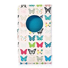 Colorized Butterflies Wallet Style Magnetic Flip Stand TPU and PU Leather Case for Nokia Lumia 1020(Assorted Colors)