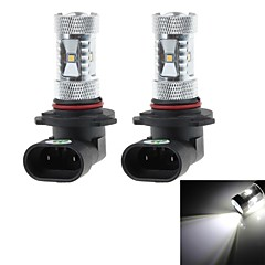 HJ  9005 8W 750lm 6000-6500K 6xSMD 2323 Bulb Cool White Light for Car Foglight  (12-24V, 2Pcs)