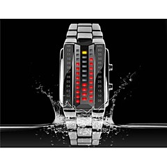 KMEI 1013 Stylish Unisex 30M Water Resistant Rectangle Zinc Alloy LED Electronic Wrist Watch Sport Watch Cool Watches Unique Watches