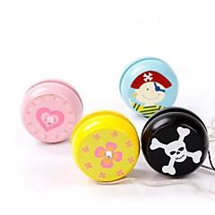 Diverse Image Wooden Classical Yo-yo Toy(Random Color 1PCS)