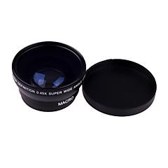 0,45 X 49mm grand angle macro pour Sony Nikon Canon Pentax Samsung Fujifilm Panasonic Leica Olympus Sigma 49mm Filetage de vis