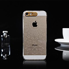 Five-pointed Star Pattern Caller Luminous Transparent Hard Case for iPhone 4/4S