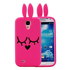 3D Cartoon Rabbit Pattern Silicon Rubber Case for Samsung Galaxy S4 I9500