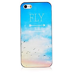 Fly with Me Pattern Black Frame Back Case for iPhone 4/4S
