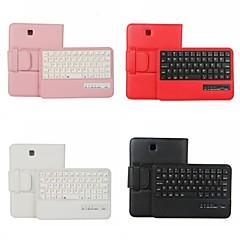 epgate-Wireless Bluetooth V3.0 Tastatur + Protective PU Ledertasche für Samsung T230 TAB4