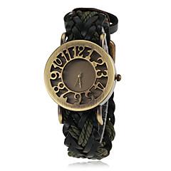 Damen Modeuhr Armbanduhr Quartz PU Band Schwarz Blau Rot Orange Braun Grün Marke