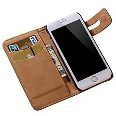 iPhoneの6S用ソフトのパターンPUレザー財布カバー6プラス