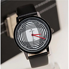 Men's Fashion Contracted Black White Arc Line  Belt Watch Cool Watch Unique Watch