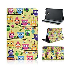 Owl Pattern PU Leather Full Body Case with Stand for Samsung Galaxy Tab 3 Lite T110