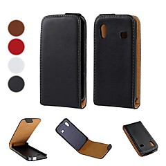 Solid Color Pattern Open Up and Down PU Leather Full Body Case for Samsung Galaxy Ace S5830 (Optional Colors)