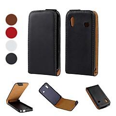 padrão de cor sólida abrir cima e para baixo pu couro caso de corpo inteiro para Samsung Galaxy Ace S5830 (cores opcionais)