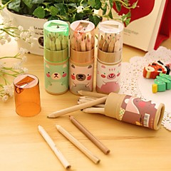 Multifunction  Cute Bear Design Painting Wood Colored Pencils (12PCS)
