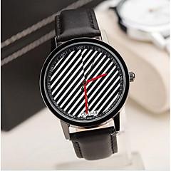 Men's Fashion Contracted Fine Diagonal Stripes Belt Watch