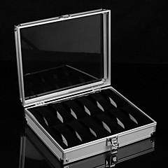 klassiska överlägsna 12 uppsättningar Se rutan silverlegering flannelette smycken lådor (1 st)