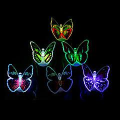 12PCS Luminous Colorful LED Butterfly Light(Random Colors)