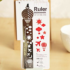 Multi-Function Metal Hollow-out Drawing Ruler Bookmark(Hot Air Balloon)